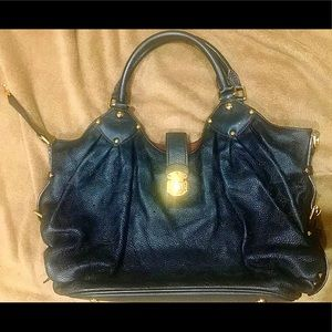Louis Vuitton Mahina Leather Hobo Bag Black